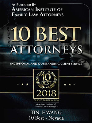 Tin Hwang 10 Best Attorneys for exceptional and outstanding client service in Family Law by the American Institute of Family Law Attorneys